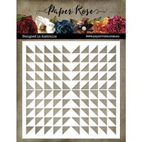 Paper Rose - 6 x 6 Stencils - Triangle Burst
