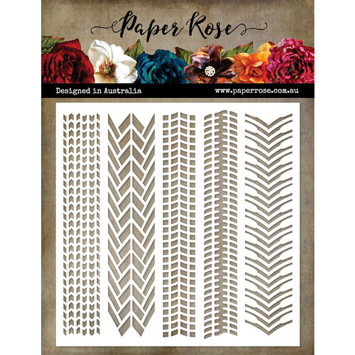 Paper Rose - 6 x 6 Stencils - Tire Tracks