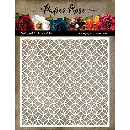 Paper Rose - 6 x 6 Stencils - Leafy Circle Lattice