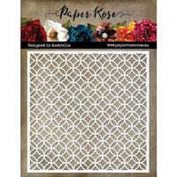 Paper Rose - 6 x 6 Stencils - Leafy Circle Lattice