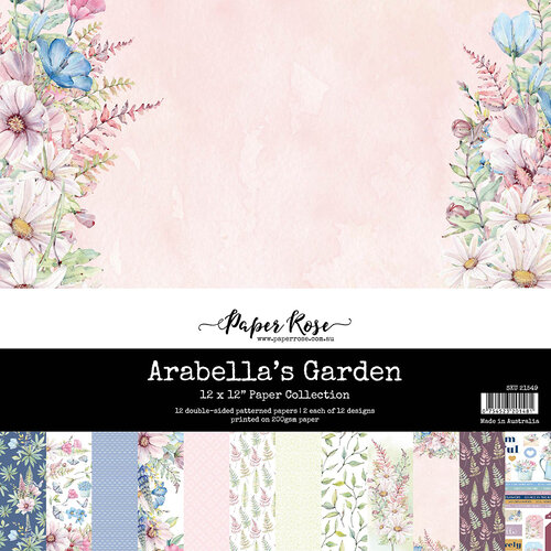 Paper Rose - 12 x 12 Double Sided Paper Collection - Arabella's Garden