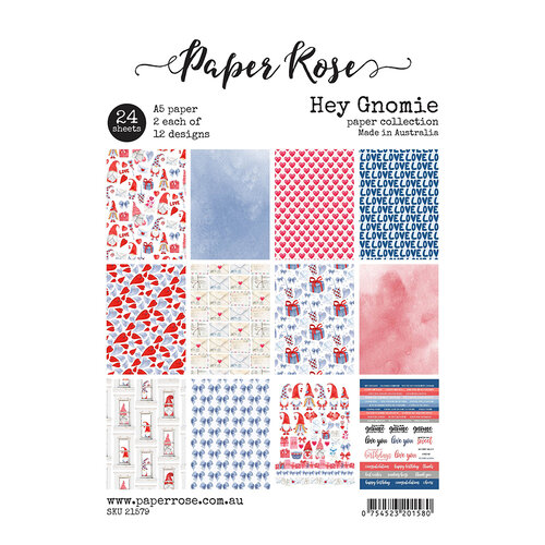 Paper Rose - A5 Paper Collection - Hey Gnomie