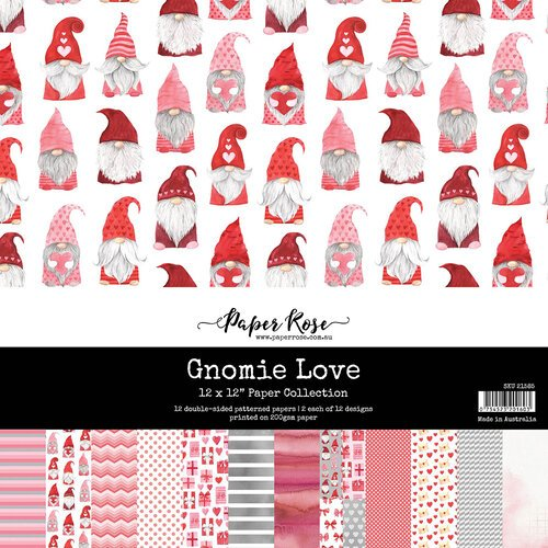 Paper Rose - 12 x 12 Double Sided Paper Collection - Gnomie Love
