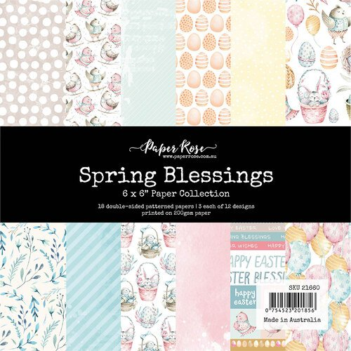 Paper Rose - 6 x 6 Collection Pack - Spring Blessings