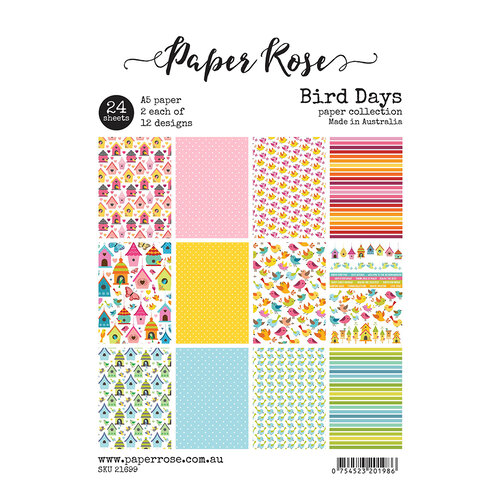 Paper Rose - A5 Paper Pack - Bird Days