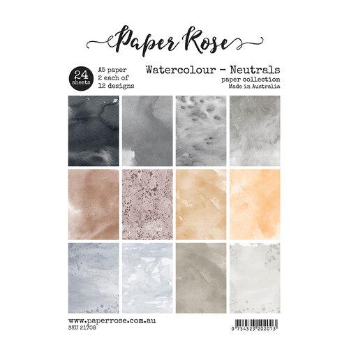 Paper Rose - A5 Paper Pack - Watercolour Neutrals