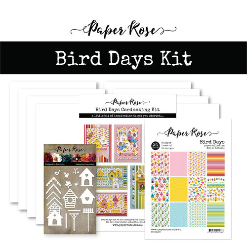 Paper Rose - Cardmaking Kit - Bird Days