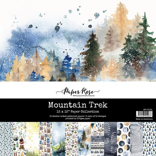 Paper Rose - 12 x 12 Collection Pack - Mountain Trek