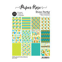 Paper Rose - 6 x 8 - A5 Paper Pack - Dino Party