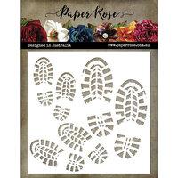 Paper Rose - 6 x 6 Stencils - Bootprints