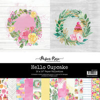 Paper Rose - 12 x 12 Paper Collection - Hello Cupcake