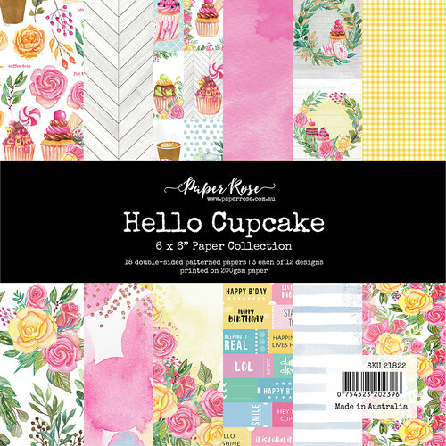 Paper Rose - 6 x 6 Collection Pack - Hello Cupcake