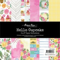 Paper Rose - 6 x 6 Paper Collection - Hello Cupcake