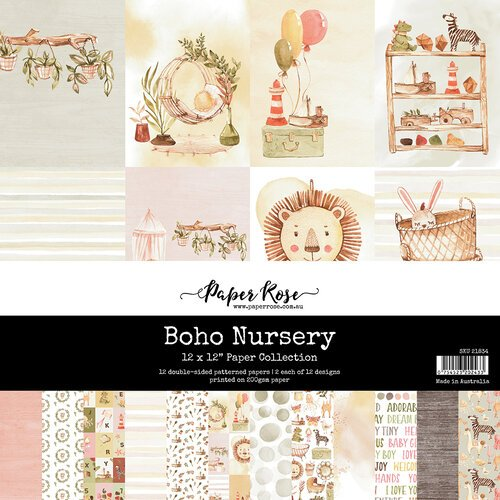 Paper Rose - 12 x 12 Collection Pack - Boho Nursery