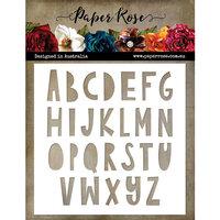 Paper Rose - 6 x 6 Stencils - Little Tots Alpha