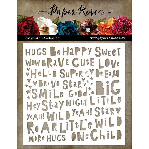Paper Rose - 6 x 6 Stencils - Little Tots Words