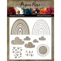 Paper Rose - 6 x 6 Stencils - Layering Rainbow
