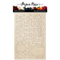 Paper Rose - Wood - Arrows