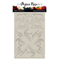 Paper Rose - Chipboard - Bear Mountain