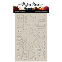 Paper Rose - Chipboard - Big Gorgeous Beautiful