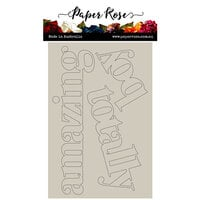 Paper Rose - Chipboard - Big Totally Amazing Boy