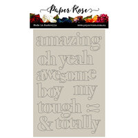 Paper Rose - Chipboard - Block Boy Titles