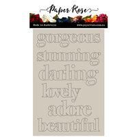 Paper Rose - Chipboard - Block Girl Titles