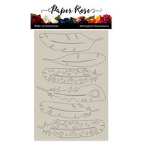 Paper Rose - Chipboard - Large Feathers