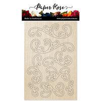 Paper Rose - Wood - Flourishes 1
