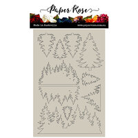 Paper Rose - Chipboard - Pine Trees