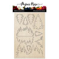 Paper Rose - Wood - Pine Trees