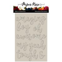 Paper Rose - Chipboard - Script Boy Sentiments