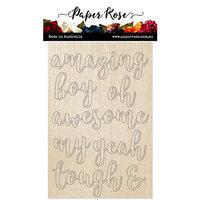 Paper Rose - Wood - Script Boy Sentiments