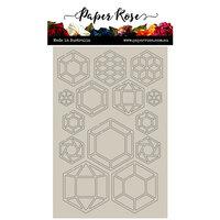 Paper Rose - Chipboard - Geo Hexies