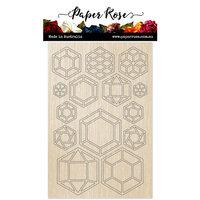 Paper Rose - Wood - Geo Hexies