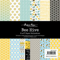 Paper Rose - 6 x 6 Collection Pack - Bee Hive