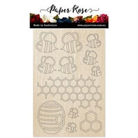Paper Rose - Wood - Bee Hive