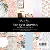 Paper Rose - 6 x 6 Collection Pack - Emily's Garden