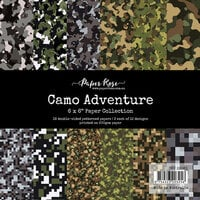 Paper Rose - 6 x 6 Collection Pack - Camo Adventure
