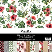 Paper Rose - 12 x 12 Collection Pack - Wild Poppies