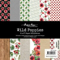 Paper Rose - 6 x 6 Collection Pack - Wild Poppies