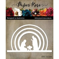Paper Rose - Christmas - Dies - Radiant Circle Nativity Scene