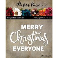 Paper Rose - Dies - Merry Christmas Everyone