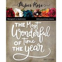 Paper Rose - Christmas - Dies - Wonderful Time