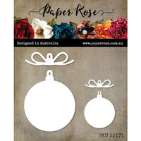Paper Rose - Christmas - Dies - Baubles With Bows