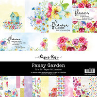 Paper Rose - 12 x 12 Collection Pack - Pansy Garden