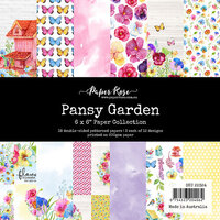 Paper Rose - 6 x 6 Collection Pack - Pansy Garden