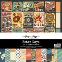 Paper Rose - 12 x 12 Collection Pack - Retro Days