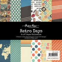 Paper Rose - 6 x 6 Collection Pack - Retro Days