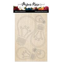 Paper Rose - Wood - Lightbulbs